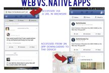 Mobile vs Native App / Examples gathered by Interactive Media Arts students