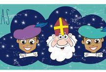 Sinterklaas by Leontine Gaasenbeek / Sinterklaas banners en knutselideeen Gemaakt door Leontine Gaasenbeek
