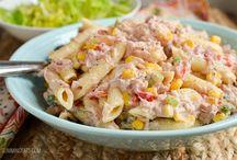 Tuna pasta salads