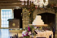Five Oaks Lodge /  Brides who love a natural setting will love this venue. Lake views with a lovely wrought-iron arch and fairy lights along the railings and log beams. Perfect for a rustic country wedding or event.