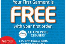 DEALS FOR YOU / Check out this board for the latest deals from CD One Price Cleaners to you!