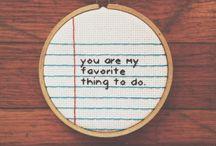 Simple minimalist stitch