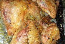 Pasta, jamón y pollo