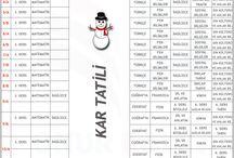 Onur Koleji 3. Yazılı Tarihleri / Kar Tatili Nedeniyle Güncellenen Yazılı Tarihlerimiz