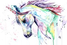 unicorn/horse drawing