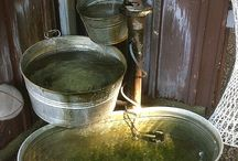 Rustic water features