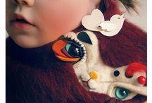 Kids scarves mittens / Kids accessories  / by Kookooshka