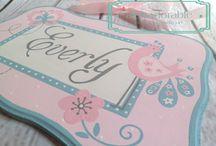Alphadorable Hand Painted plaques / Custom, personalized, hand painted name signs and plaques created by alphadorable.