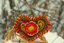 броши бохо вязание