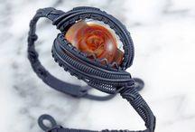 Wire Wrapped + Bracelets / Wire Wrapped Bracelets from Third Eye Assembly | @TEAjewelry