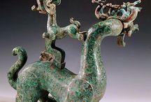 antique bronze chimera