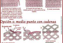 Crochet básico. Fichas