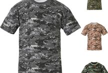 Mens Military Camouflage T Shirt Army Combat Tactical Digital Camo Hunting Tee