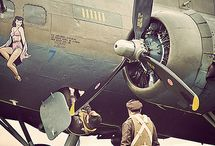 WORLD WAR II PLANES & PIN UP