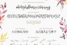 Fonts I Love! / Fonts I Love!