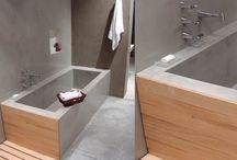 Banheiro - banheira de alvenaria