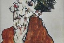 Artist: Egon Schiele / #art #arte #미술 #화가 #artist #artista #kuns #kunst #artist #egonschiele #expressionism #angst