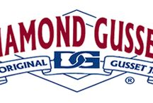 "Diamond Gusset Jeans - MAM Member / Diamond Gusset Brand Jeans are 100% American Made and are different because of the unique gusset sewn into the crotch of the jean. The original gusseted jean construction incorporates a ""delta"" shaped piece of material sewn into the crotch of the jean. This allows stress to be redistributed around the crotch area, allowing greater freedom of movement, comfort and strength."