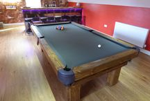 Rustic Pool & Snooker Table Range / Our Rustic Pool or Snooker Table comes in sizes from 5' up to 12'. It's made from either Soft wood or Ash and many different colours of cloth. Found on both our websites, along with loads of other stunning products: www.Luxury-Pool-Tables.co.uk & www.Luxury-Games-Tables.co.uk