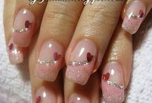 Valentin day nails