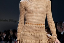 Brown crochet dress