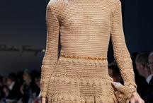 Brown crochet dress