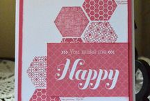 Cards and projects using hexagons