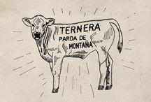 Carne Rosa Petra Mora / Rosa Petra Mora ternera pardo de montaña.