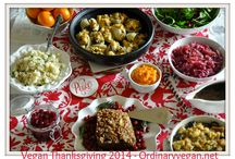 Vegan Thanksgiving 2014 / If you are looking for some plant based recipes for the holidays, you have come to the right place! Vegan Thanksgiving 2014  healthy plant based recipes here: http://www.ordinaryvegan.net/vegan-thanksgiving-recipes/