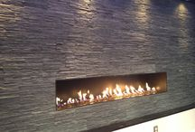 Fiamma LINEA Custom gas fireplaces / These units are made here in Connecticut. All units are custom made to order.