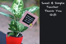 Teacher Appreciation Gifts & Ideas / Gifts and ideas for showing the teachers in your life that they are appreciated.