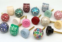 Owl and button Knobs / Cupboard door knobs