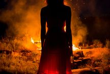 Fire / Fire is associated with passion, purification, courage, the sun, midday, dragons, and south.