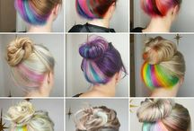 underlights rainbow hair