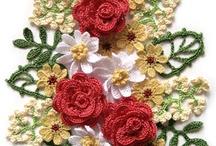 flores tejidas y aplicaciones