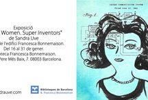 """Exposición """"Super Women, Super Inventors"""" / Exposición itinerante con cuadros a la venta"""