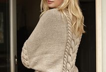 Knitted shrugs