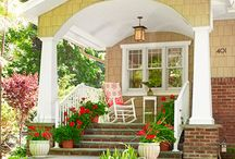 Front and Back Porches / I love a porch of any kind.  Its an extension of your home.  / by Shawna Soliday Taylor