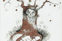 Wyecliffe | Kerry Darlington Remarques / Beautiful hand drawn sketches by the artist Kerry Darlington. These feature on the Remarque editions of 'East of the Sun, West of the Moon', 'Little Tree Spirit', and 'Learning to Fly'.  A wonderful opportunity to purchase your own original hand drawn Kerry Darlington sketch on a beautiful limited edition Remarque print.