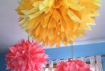 Kids Party Decorating Ideas / A collage of ideas for decorating a child birthday party room.