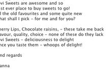 Reasons our customers are the best! / Some of our lovely customers have said lovely stuff about us.. and one even wrote us a poem!  Buy your favourite sweets online: www.lovisweets.co.uk