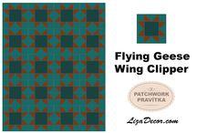 Patchwork vzory - Flying geese / patchworkový vzor