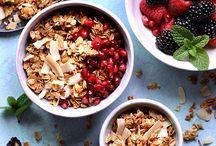 Muesli, granola, porridges...