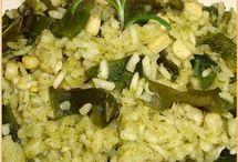 arroz al cilantro poblano elote.