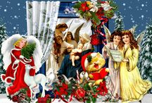 Рождество / Рождественской звезды свет благодатный Свое сияние на землю обронил.