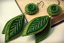 DIY Embroidered Earrings