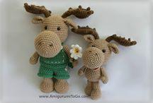 Amiguri crocheted small animals / Crocheted