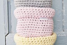 crochet square basket