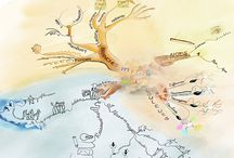 aquarelle mindmap / le mind map en inspiration et en aquarelle