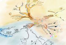 aquarelle mindmap / le mind map en inspiration et en aquarelle